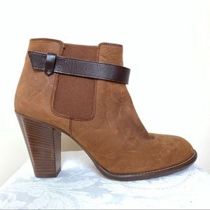 Madewell brown booties, 7.5